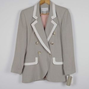 NWT Casual Corner Double breasted Tan Blazer